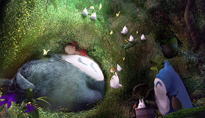 Totoro movie 3d reproduction