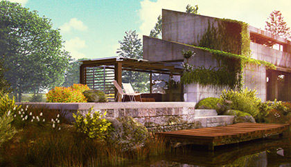 Concept residential house 3d