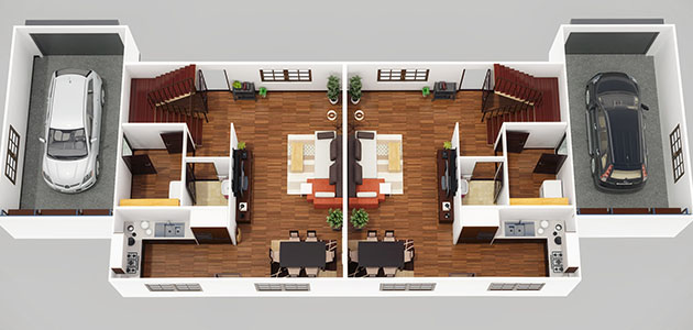 commercial interior rendering